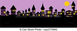 Panorama clipart old city