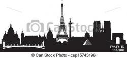Panorama clipart paris city