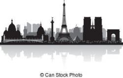 Panorama clipart paris france