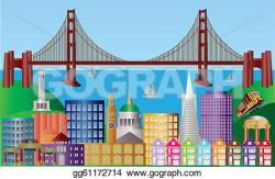 Panorama clipart san francisco landmark