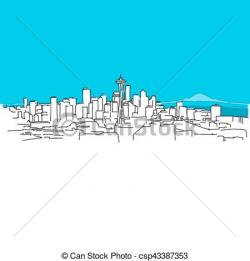 Panorama clipart vector