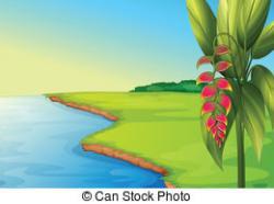 Panorama clipart water land