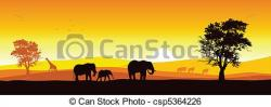 Panorama clipart wildlife