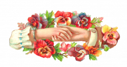 Pansy clipart victorian