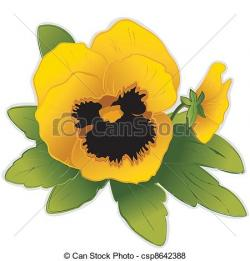 Pansy clipart yellow
