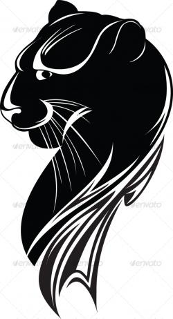 Drawn cougar black panther