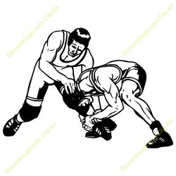 Wrestler clipart high school wrestling
