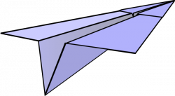 Small clipart paper airplane