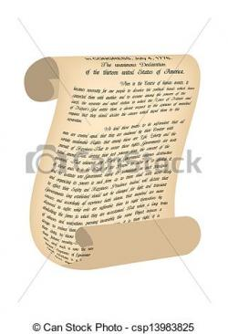 Drawn scroll declaration independence