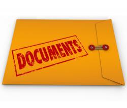 Paper clipart important document