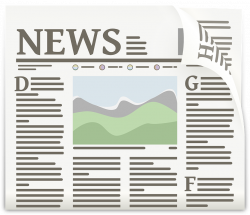 Journalist clipart newspaper headline