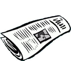 Right clipart rolled paper