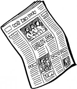 Journalist clipart newspaper ad