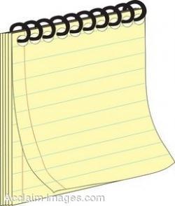 Paper clipart pad paper