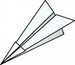 Paper clipart paper airplane