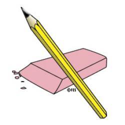 Pen clipart pencil eraser