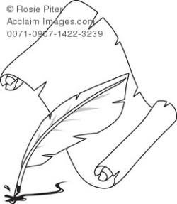 Quill clipart parchment