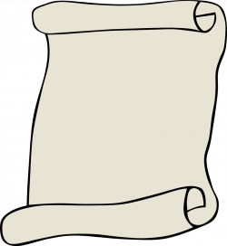 Scroll clipart rolled paper