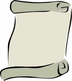 Paper clipart rolled