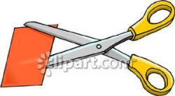 Paper clipart scissor cutting