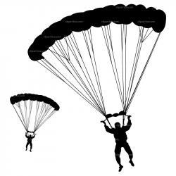 Parachutist clipart skydiver