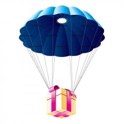 Gift clipart parachute