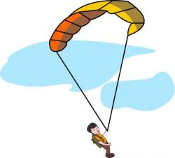 Skydiving clipart parachute