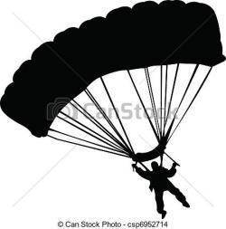Parachute clipart airborne