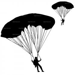 Skydiving clipart army parachute