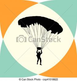 Parachutist clipart adventure