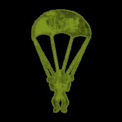Parachutist clipart army parachute
