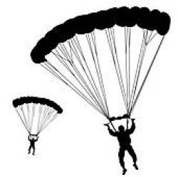 Parachutist clipart black and white