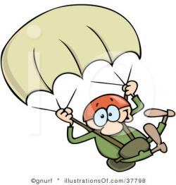 Parachutist clipart cartoon