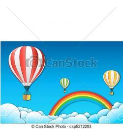 Parachute clipart rainbow