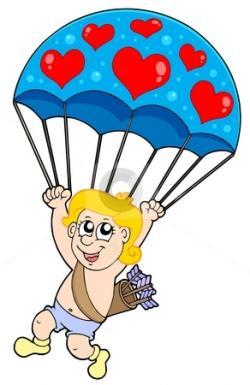 Parachutist clipart cute