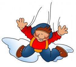 Skydiving clipart someone