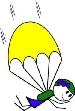 Parachute clipart cartoon
