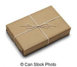 Parcel clipart brown paper