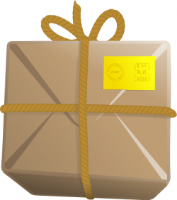 Parcel clipart closed box
