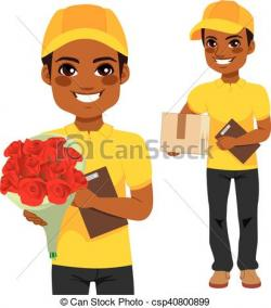 Parcel clipart courier man