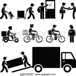Parcel clipart delivery guy
