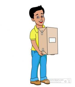 Parcel clipart delivery person