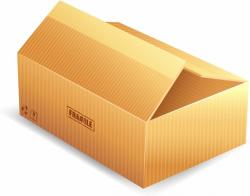 Parcel clipart packing box