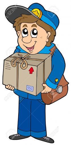 Parcel clipart postman