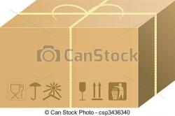 Parcel clipart shipping box