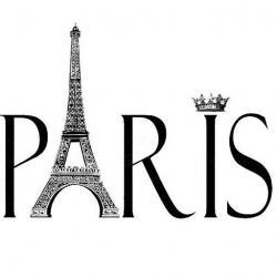 Typeface clipart paris