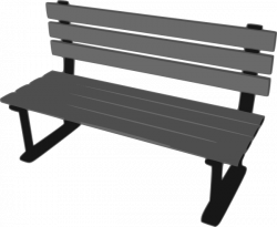 Bench clipart cartoon
