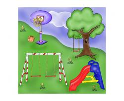 Setting clipart park playground