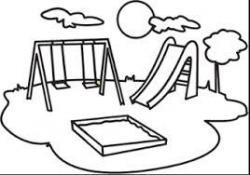 Playground clipart black and white