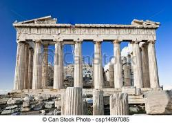 Parthenon clipart ancient ruin